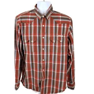 Lucky Brand Pearl Button Western Large Men's Shirt
